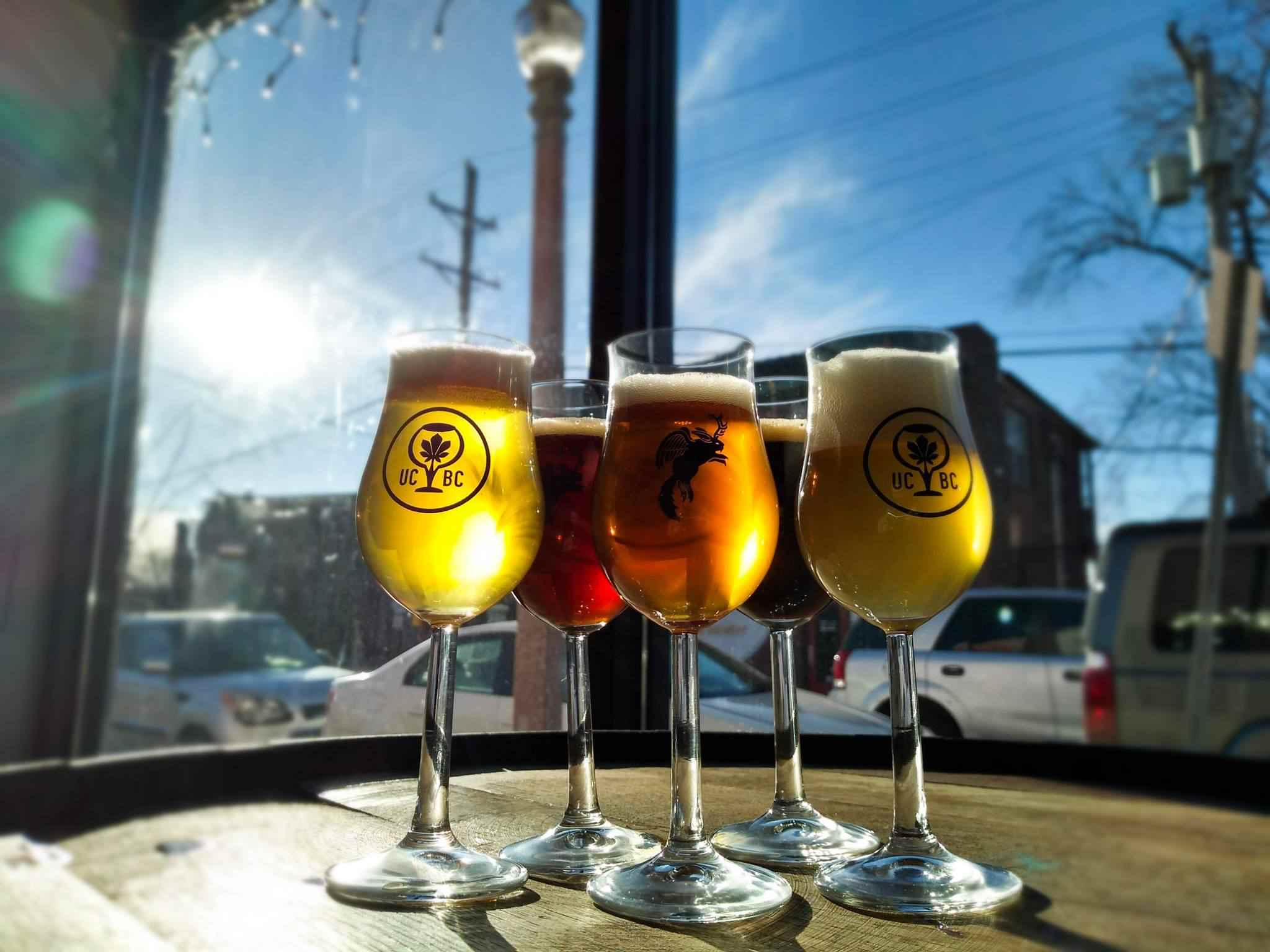 Urban Chestnut Brewing Company glasses with beer