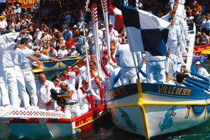 Water jousting at Sete in Languedoc-Roussillon