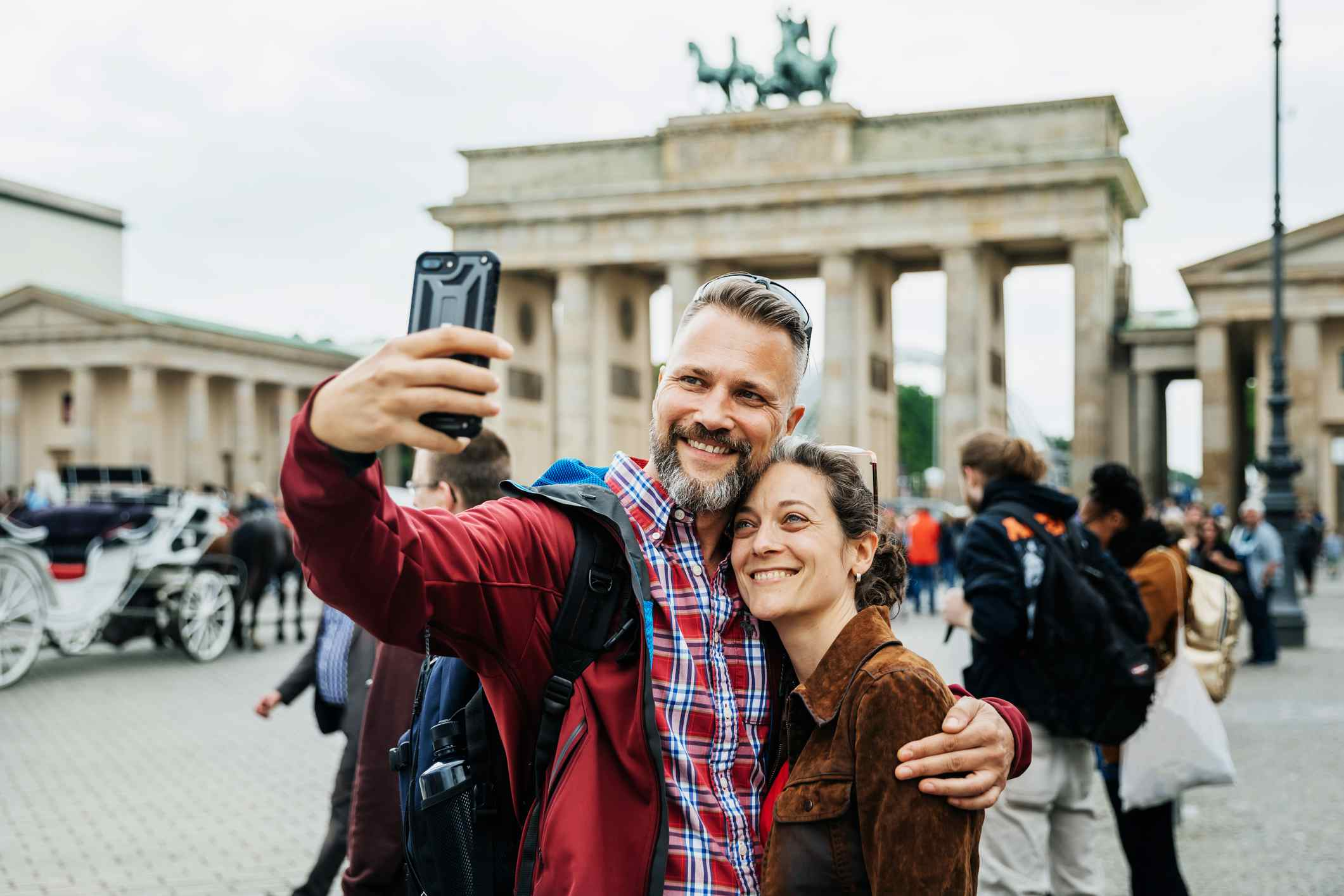 Couple in Germany at Brandenburger Tor