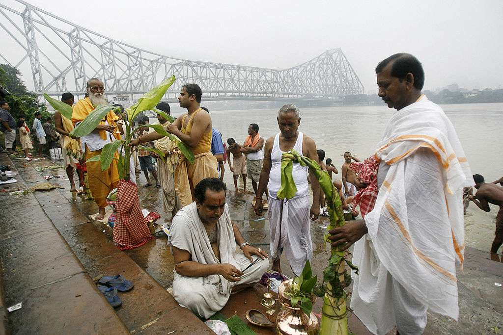 Kala Bou bath during Durga Puja.