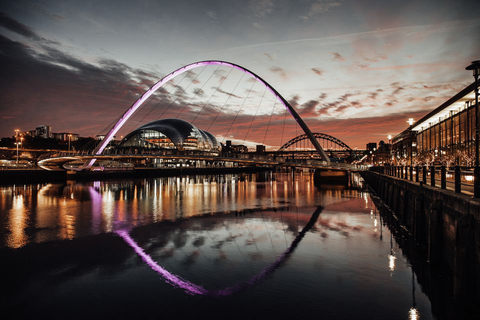 The Tyne Bridges at Sunset