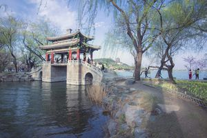 Chinese traditional bridge in Summer Palace, Beijing