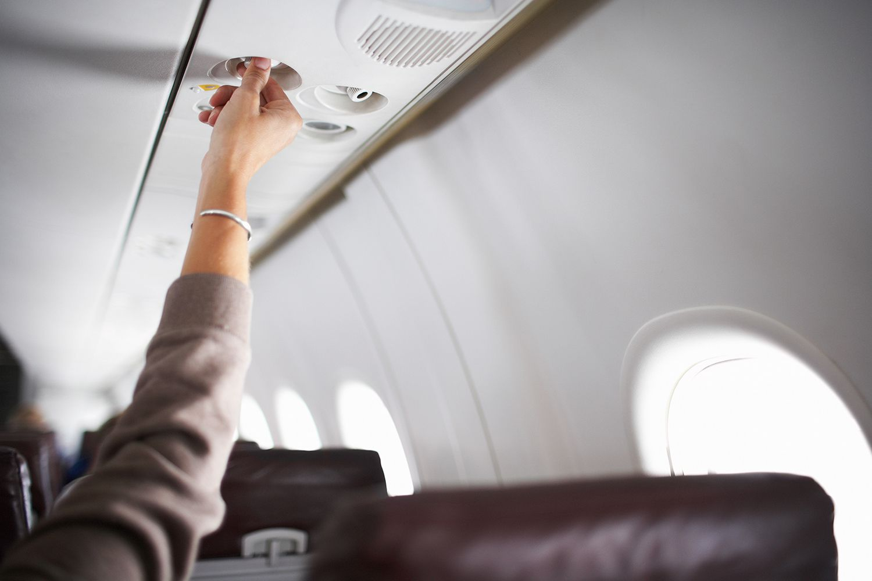 Salida de aire del avión