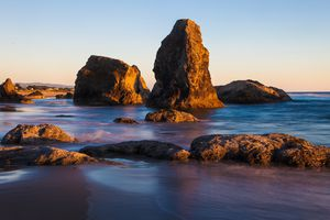Bandon Beach at Sunset, Bandon, Oregon