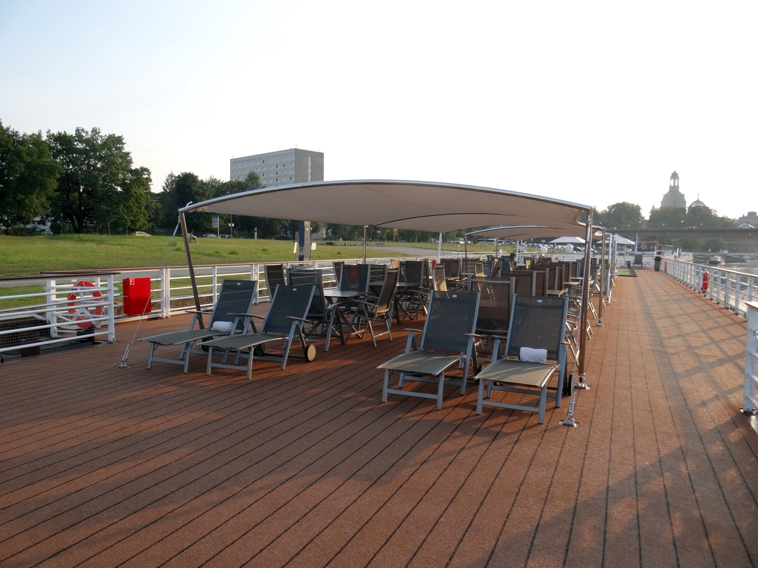 Sun deck on the Viking Elbe River cruise ships