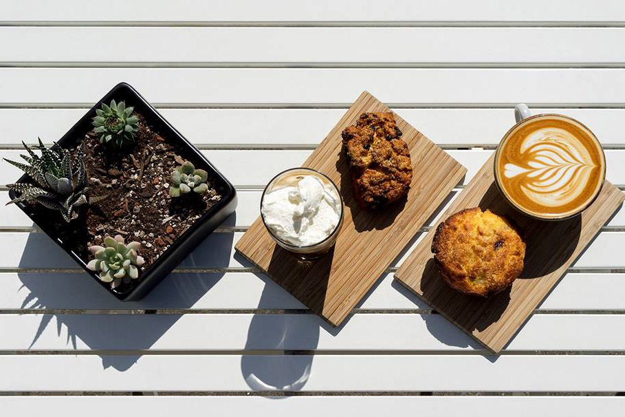 Coffee and muffins from Andytown Coffee Roasters