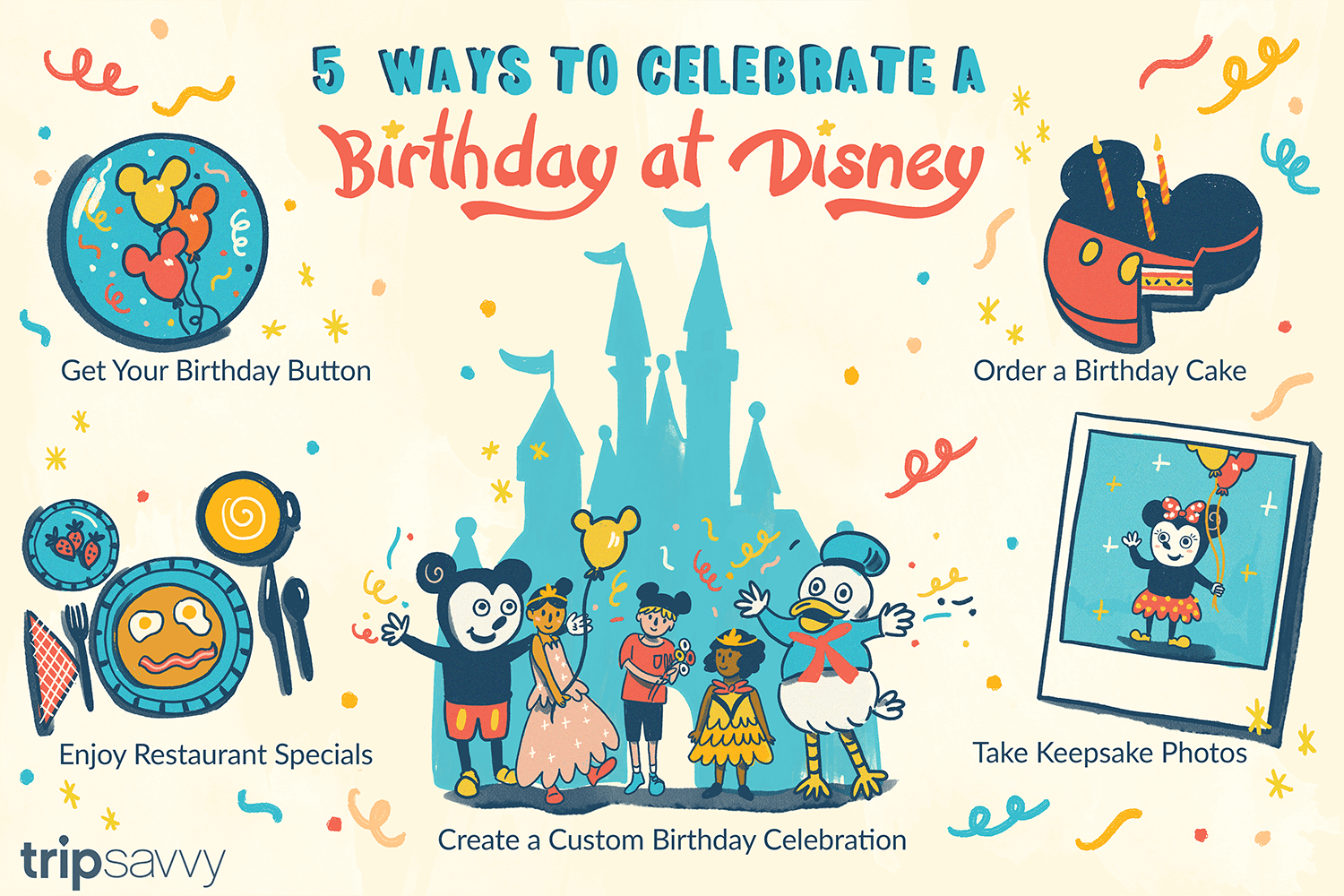 Surprising Celebrate A Birthday At Disney World Or Disneyland Personalised Birthday Cards Veneteletsinfo