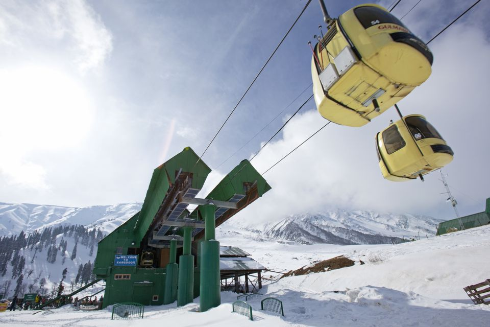 The gondola in Gulmarg, Kashmir