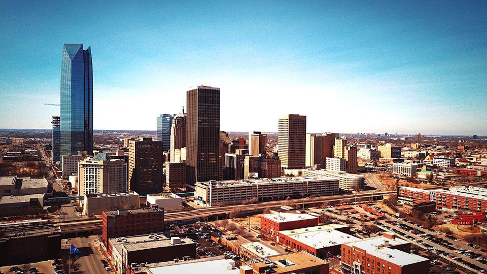 Oklahoma City Cityscape Against Sky