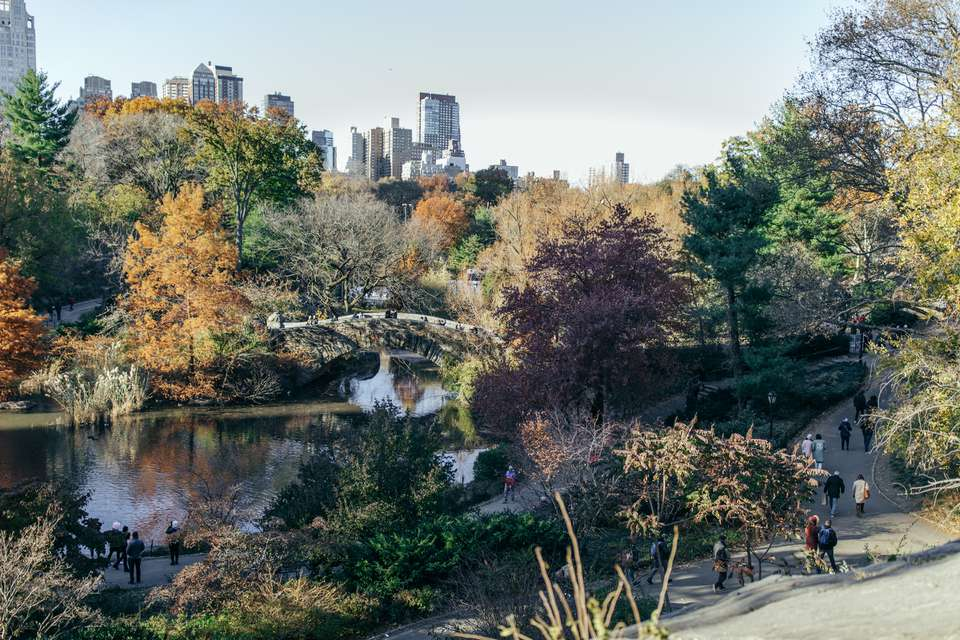 Gapstow Bridge and Pond en Central Park, Nueva York