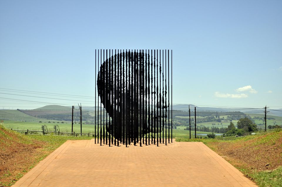 Sculpture at the Nelson Mandela Capture Site, Howick, South Africa