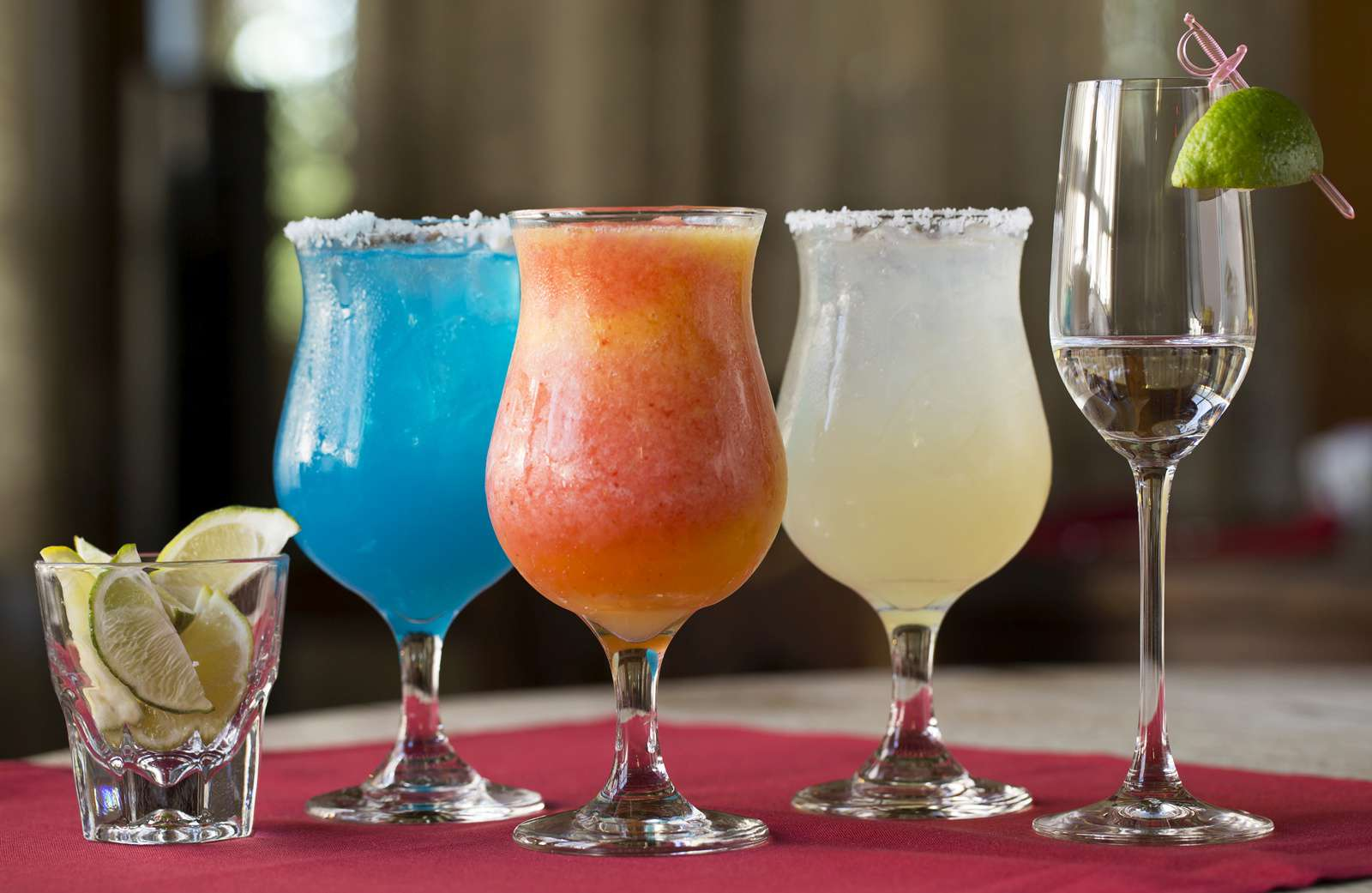 Three margaritas from Maria's New Mexican Kitchen