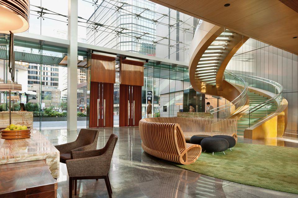 Hong Kong Hotel ICON's amazing lobby