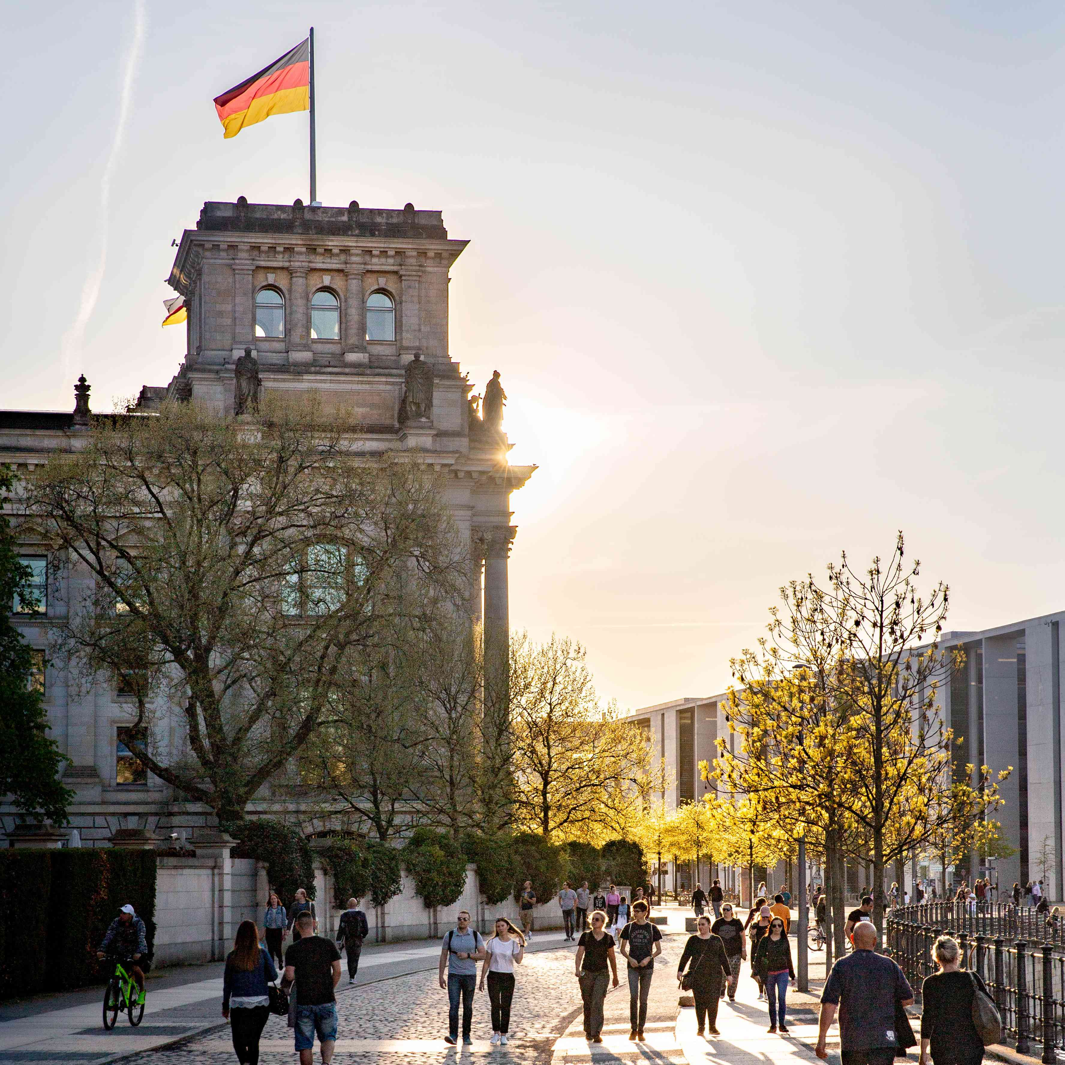 The Reichstag in Mitte neighborhood