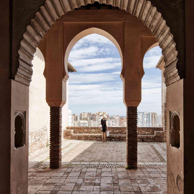 Alcazaba fortress in Malaga, Spain
