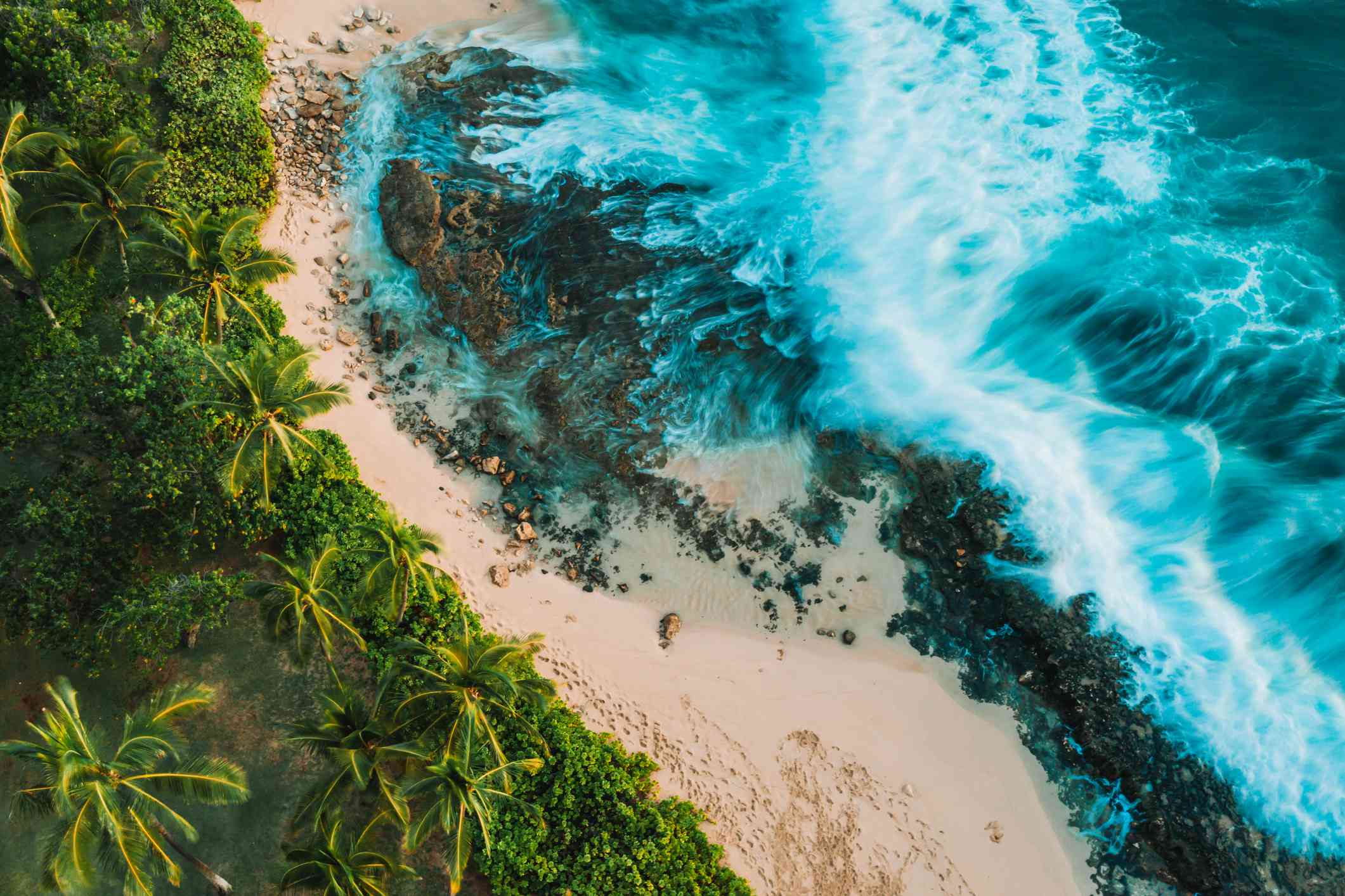 Drone photography over Oahu