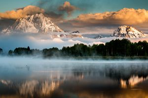 Oxbow Bend in Grand Tetons National Park, Wyoming.