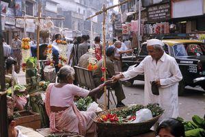 Mumbai street market.