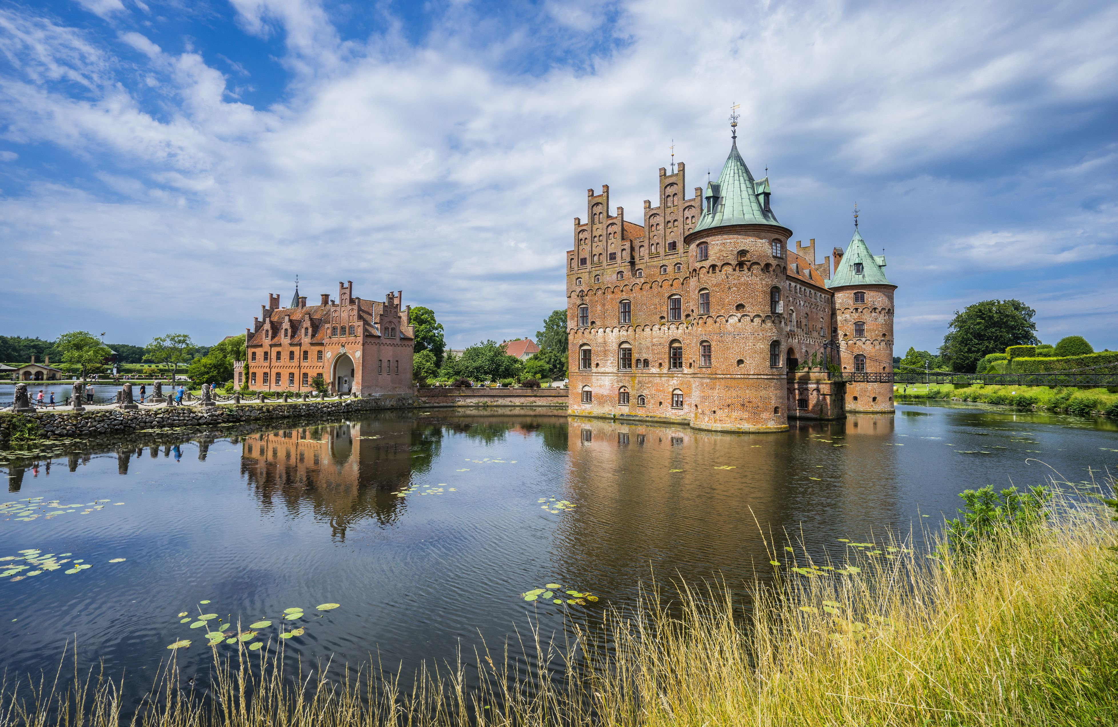 Egeskov Castle on the island of Funen