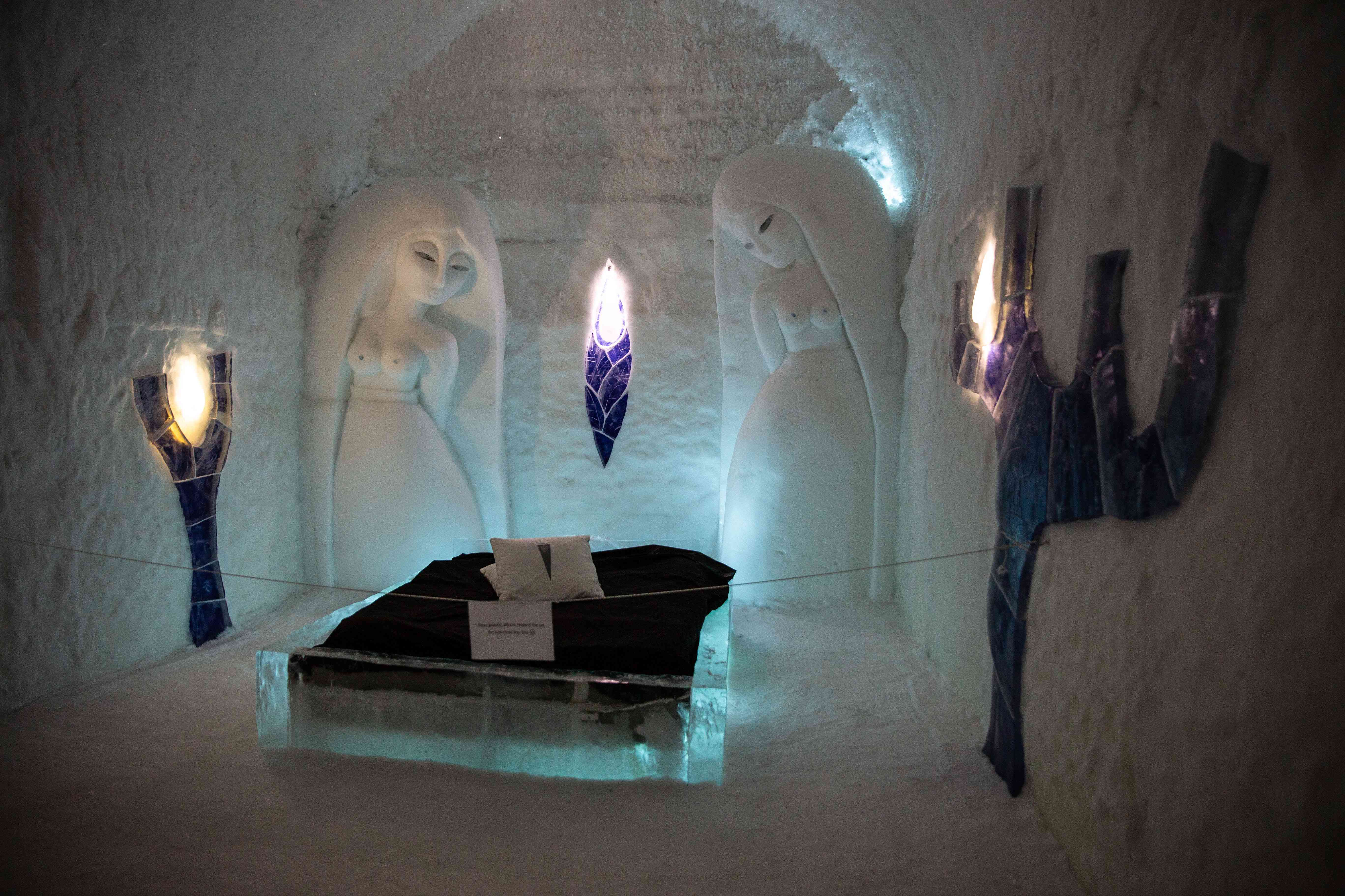 Ice room in the Ice Hotel