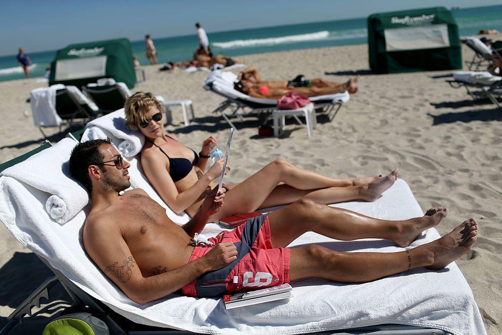 miami beach couple