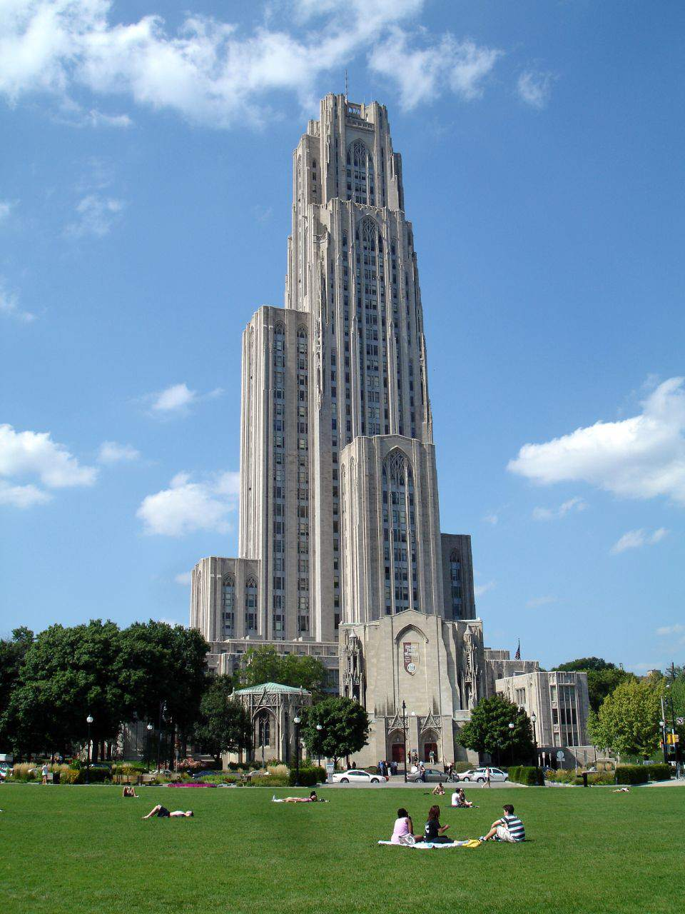The Pittsburgh Cathedral of Learning in Oakland