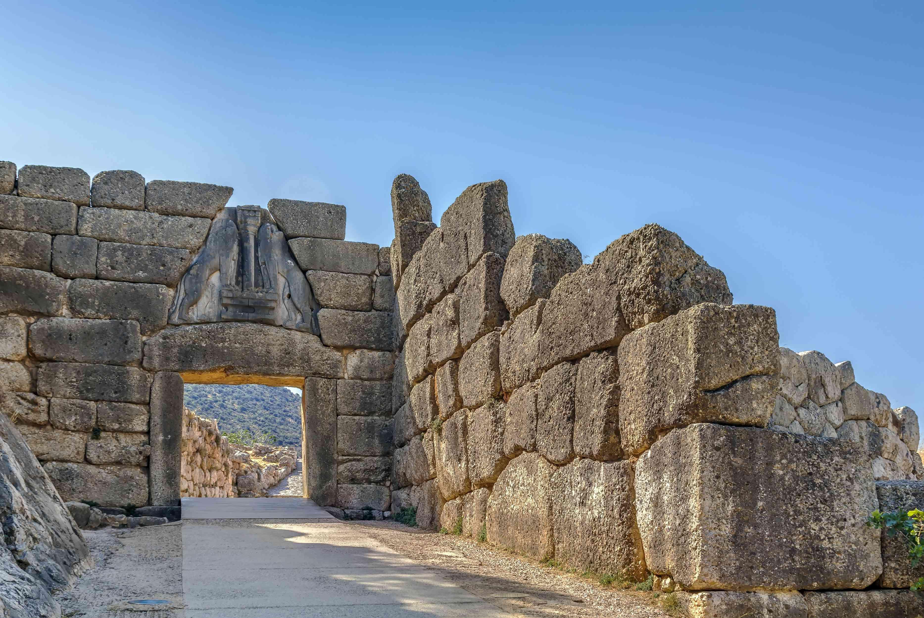 La Puerta de los Leones en Micenas