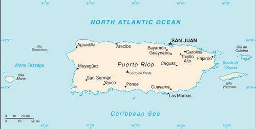 Caribbean Cruise Map of Puerto Rico
