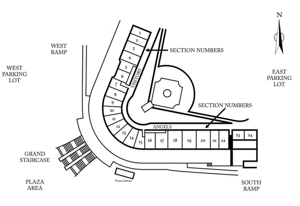 Seating Chart for Tempe Diablo Stadium