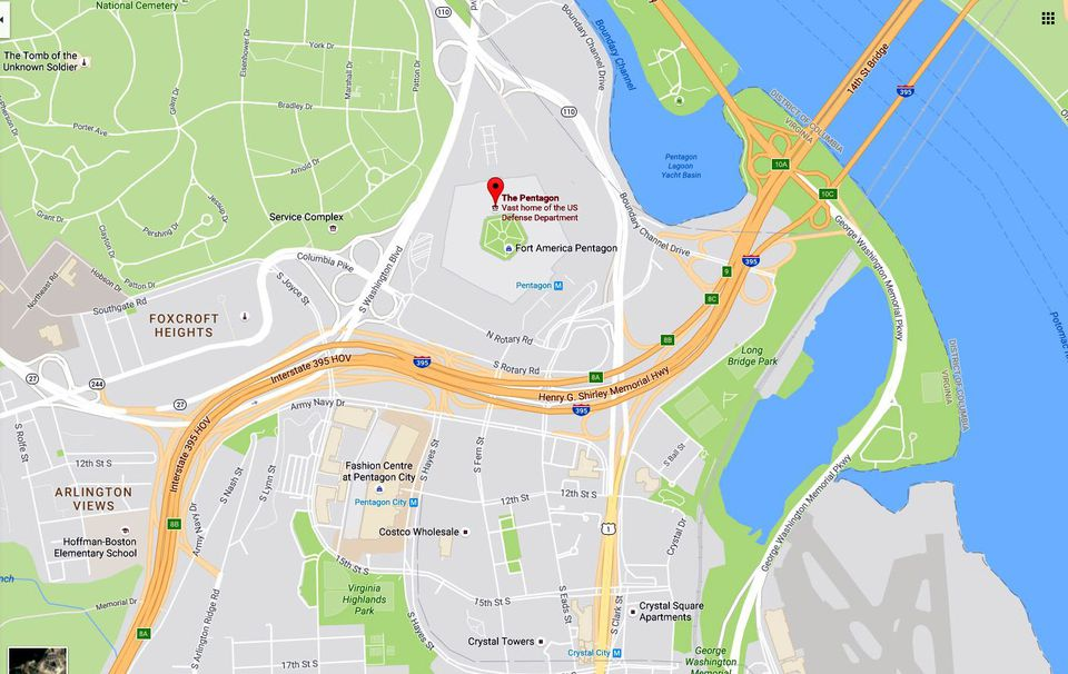 Hayes Virginia Map.Maps And Directions To The Pentagon Pentagon City Mall