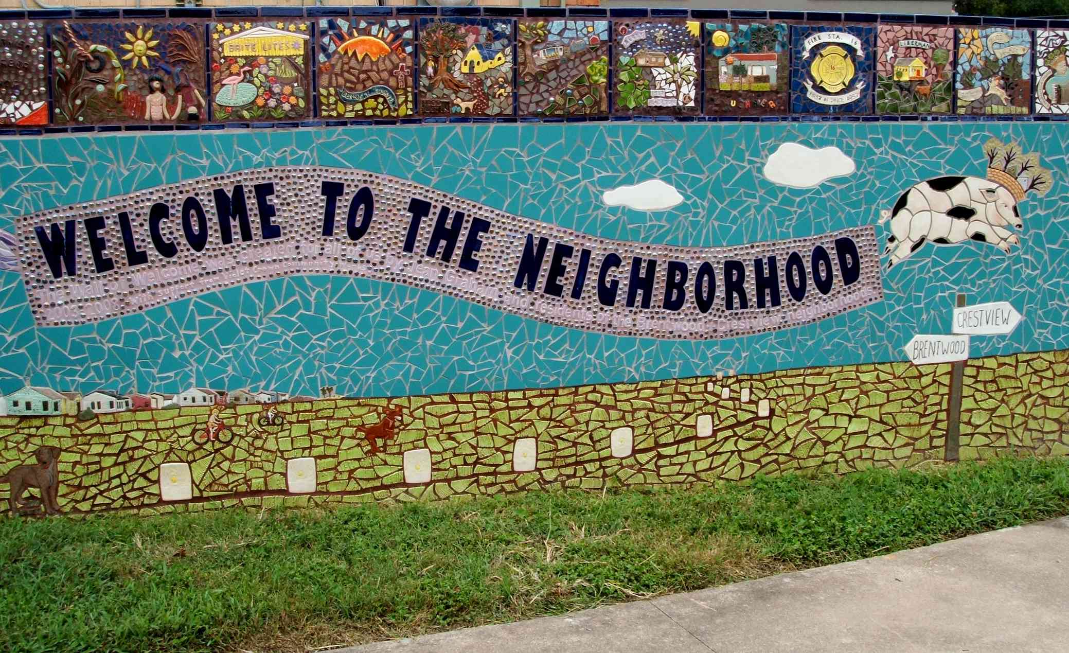 Crestview Neighborhood's Wall of Welcome in North Central Austin