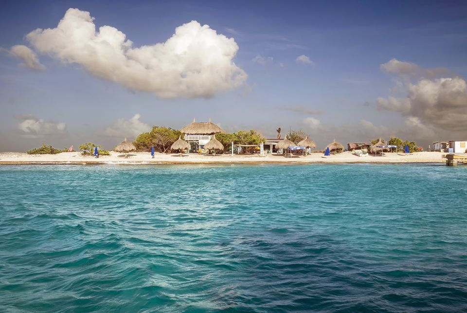 sea and the beach of Klein Curacao, Caribbean
