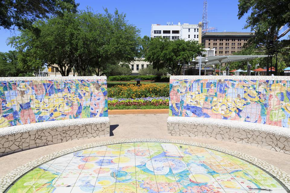 Market Square Park en el centro de Houston