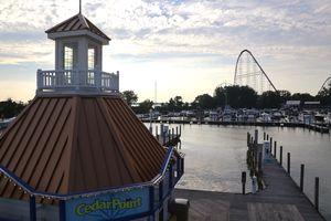 An amusement park and harbor in Sandusky, Ohio