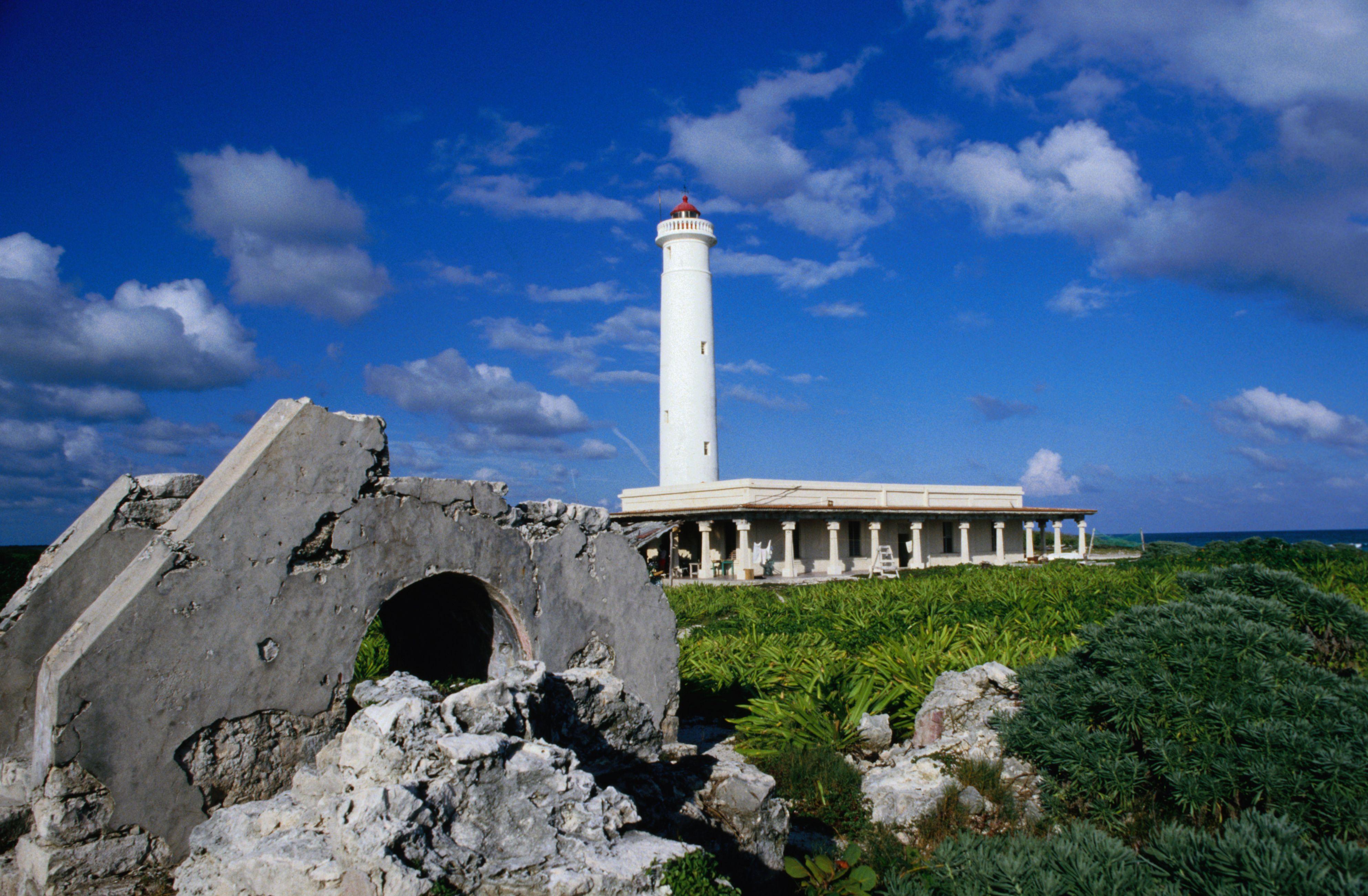 Lighthouse on the island of Cozumel