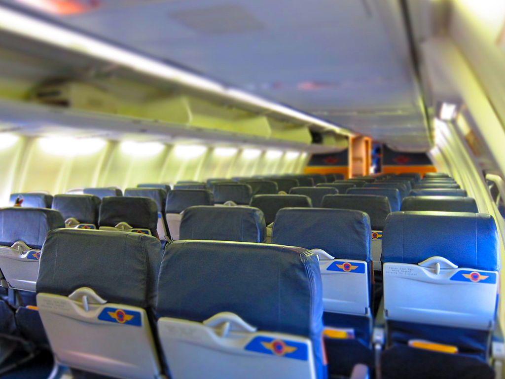 Un interior de Southwest Airlines