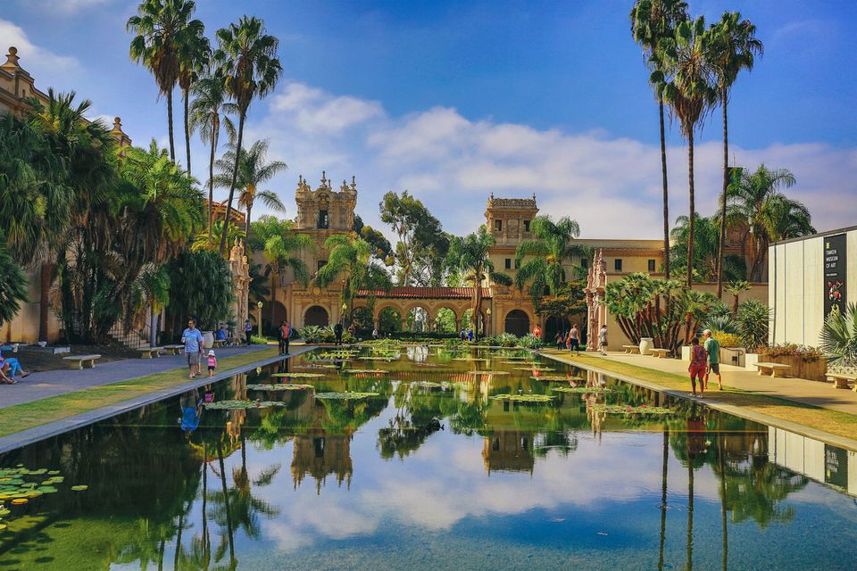 Casa de Balboa and Reflection Pond, Balboa Park