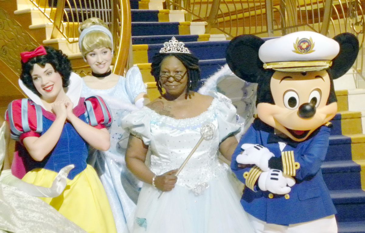 Disney Princesses and Mickey Mouse on the Disney Dream