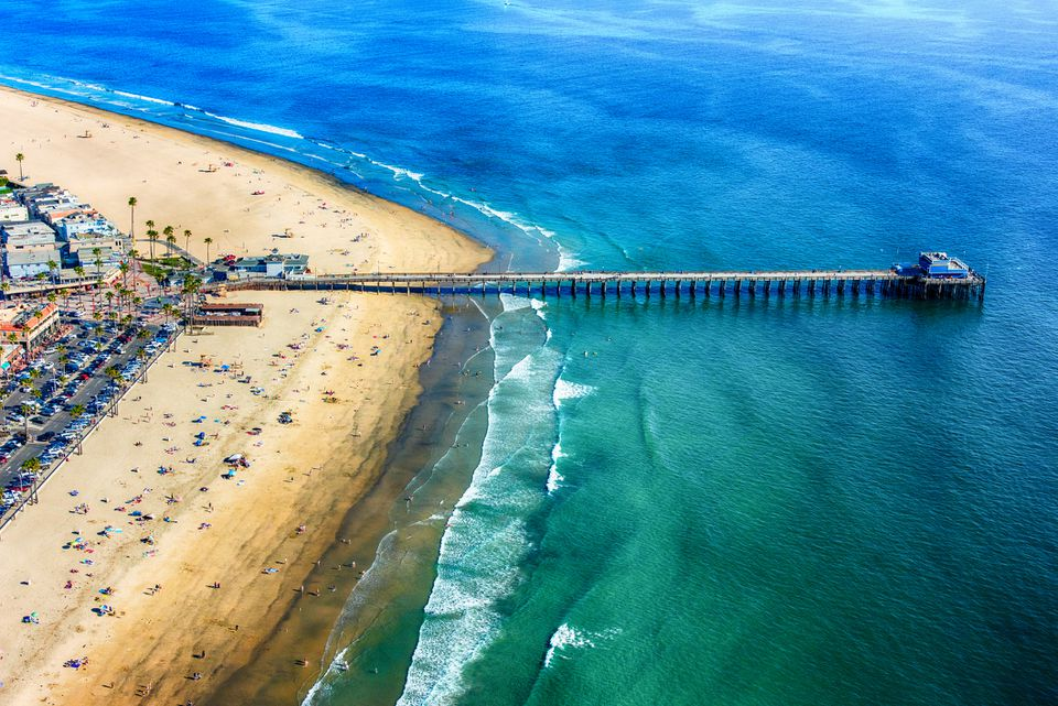 Newport Beach Pier Aerial