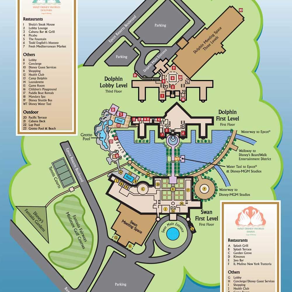 Disney World Maps for Each Resort on