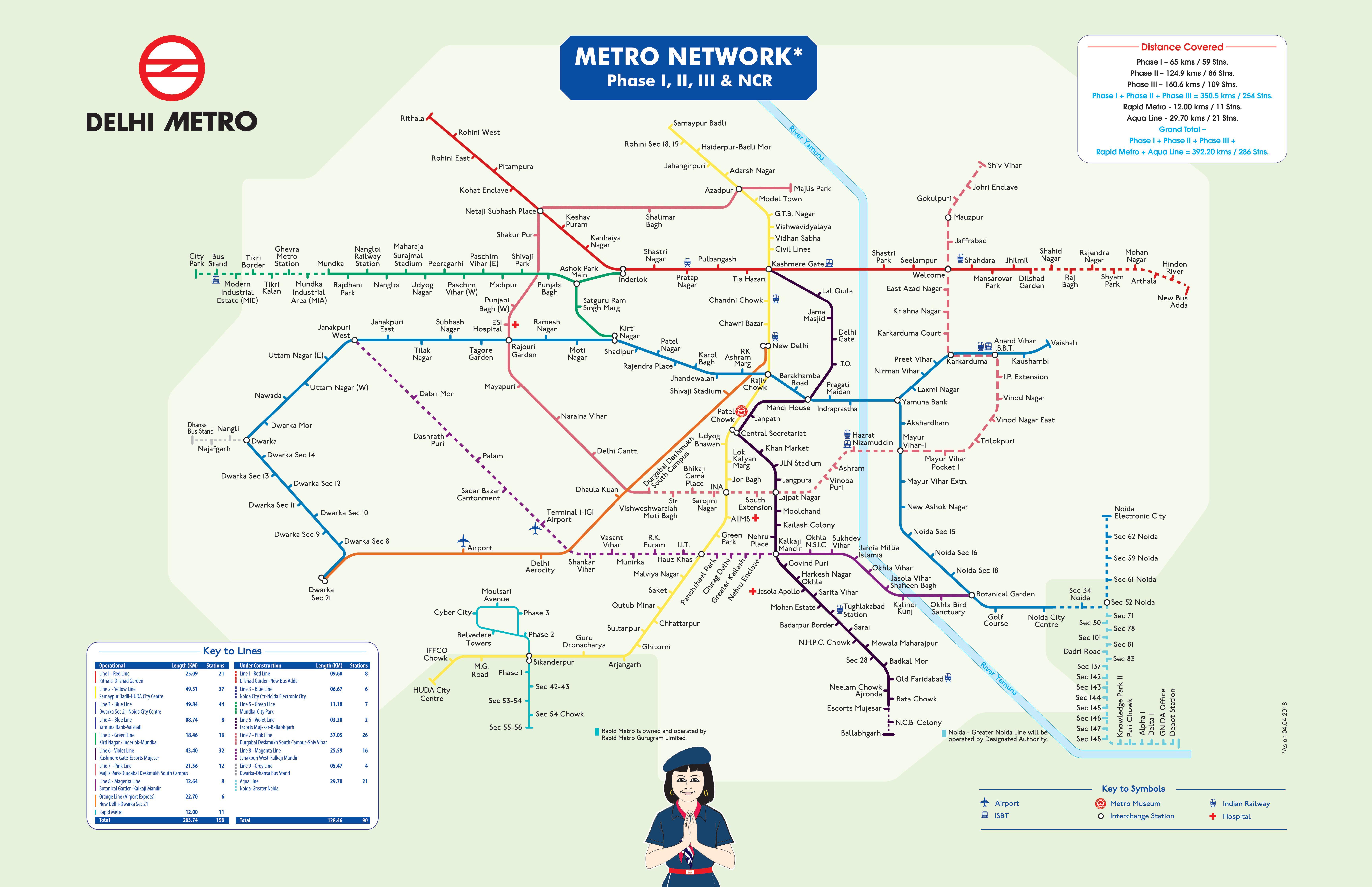 Udoben Karta Na Metro Zhp Mrezhata Na Delhi