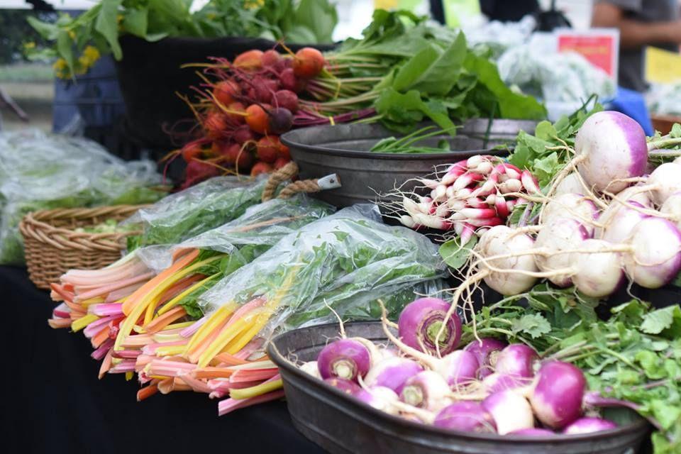 Mercado de granjeros de Texas en verduras Mueller
