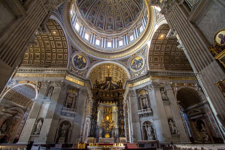 Interior of St. Peters Basilica, Rome