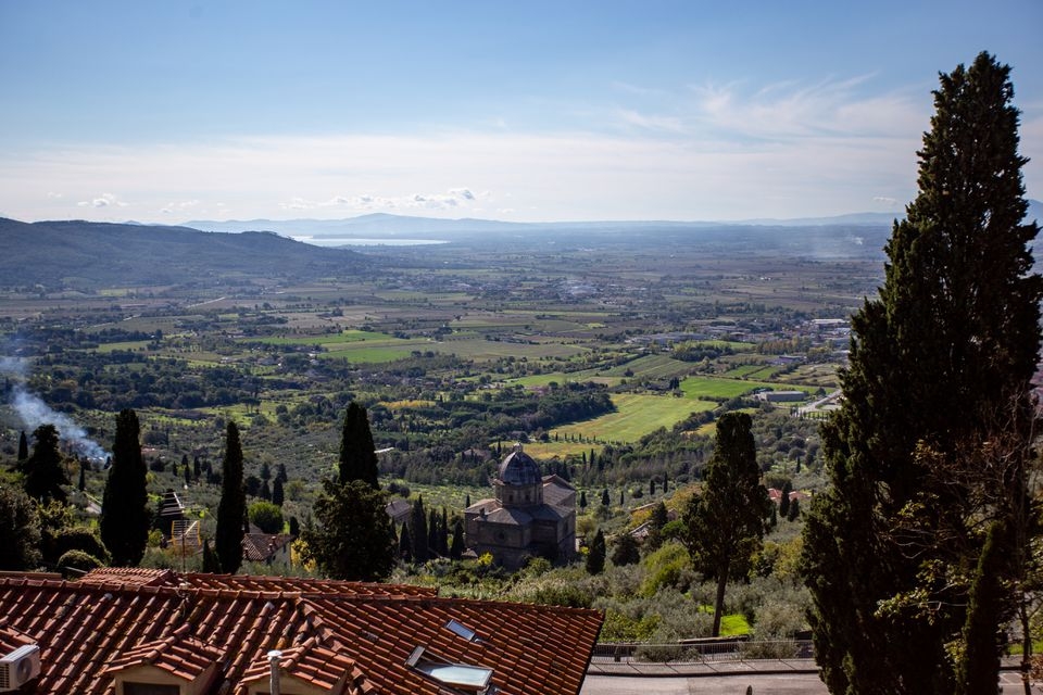 Scenic view in Cortona, Tuscany, Italy