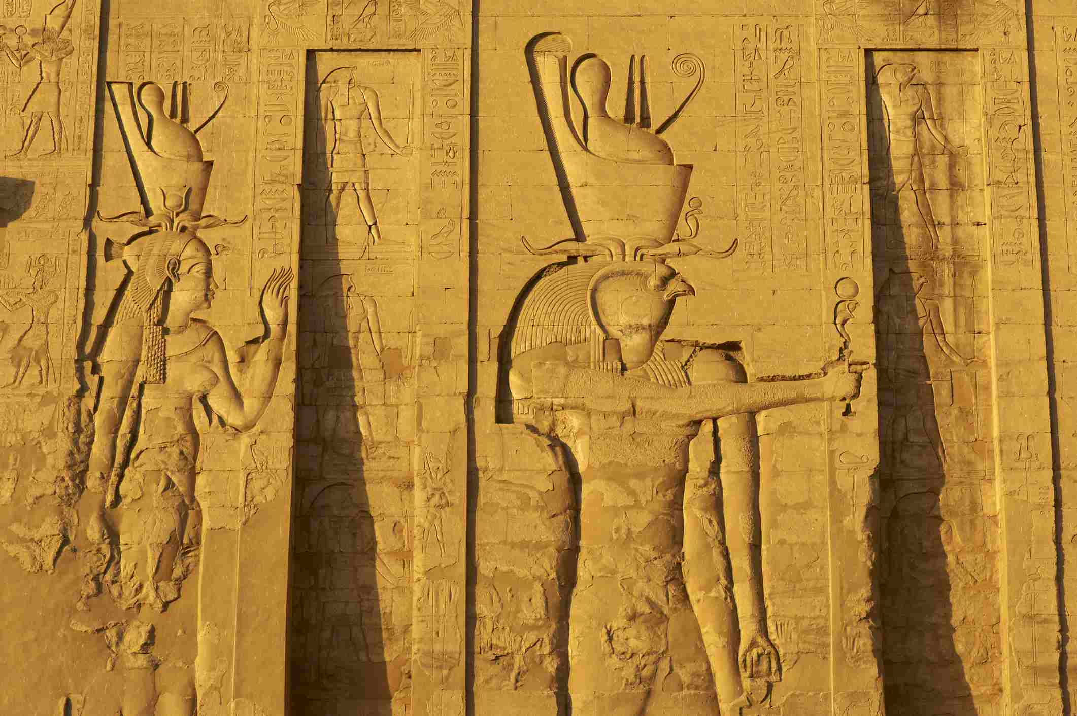 Bas relief at the Temple of Horus, Edfu, Egypt