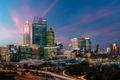 Downtown Perth city skyline at twilight in Western Australia, Australia.
