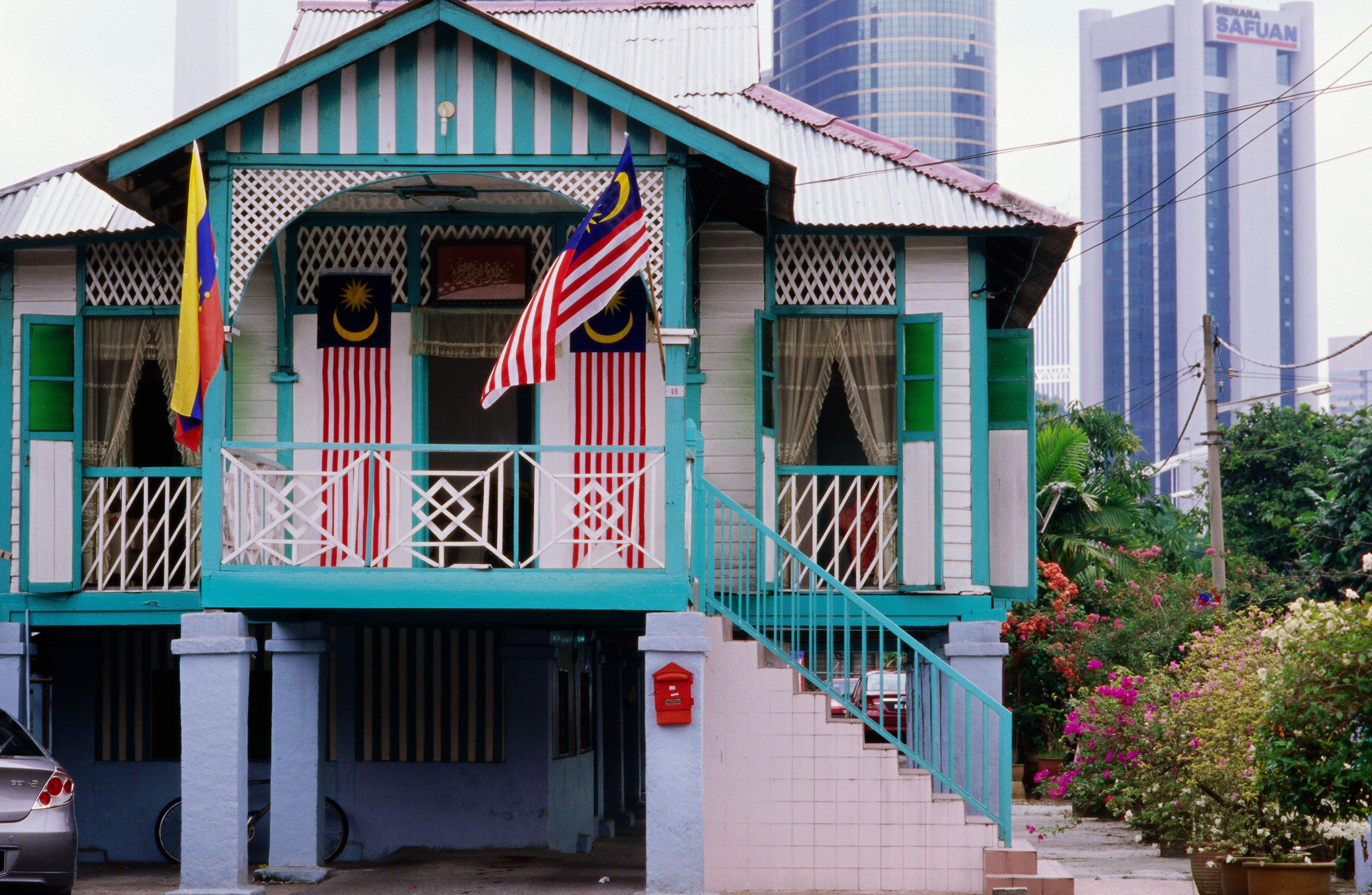 Traditional house in Kampung Baru, neighborhood in KL