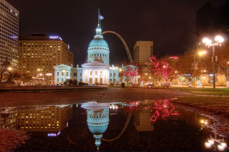 St Louis Gateway Arch Christmas