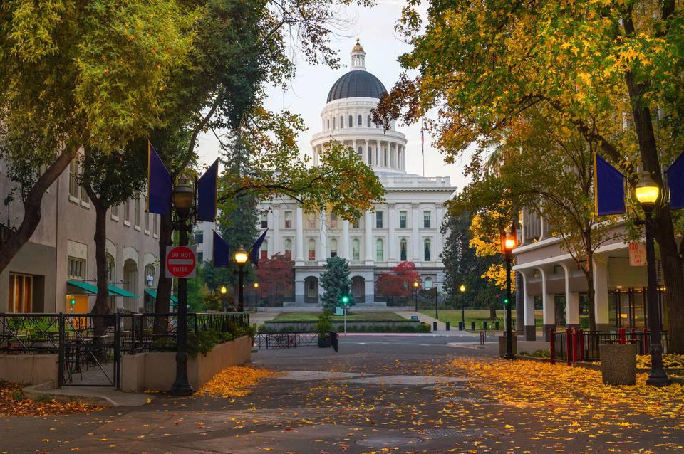 Sacramento Capitol Building in Fall