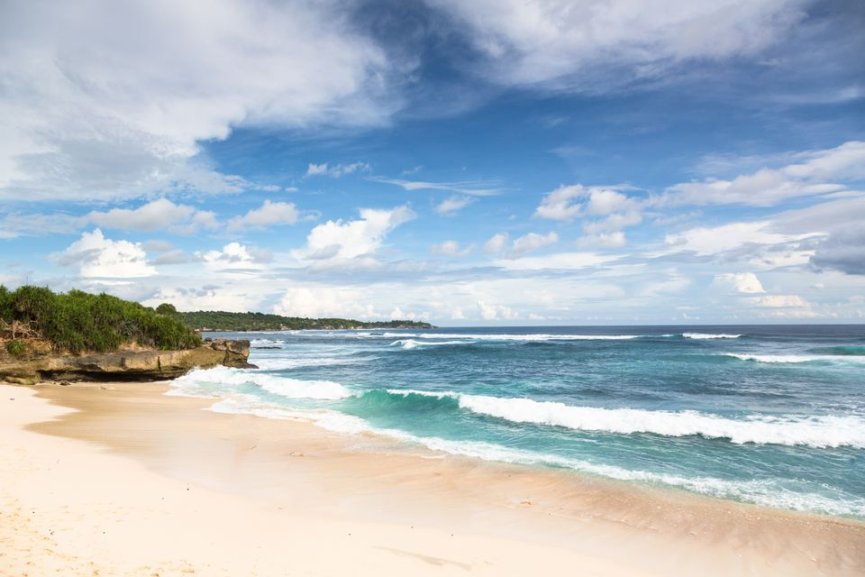 Dream Beach on Lembongan island, Bali, Indonesia